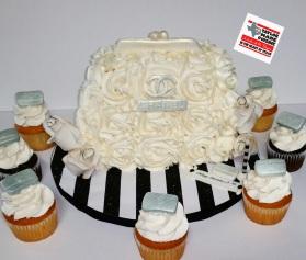 Rosette Clutch Birthday Cake-Chanel Inspired