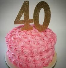 Rosette Buttercream Birthday Cake 🎂