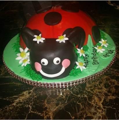 Ladybug Themed Birthday Cake