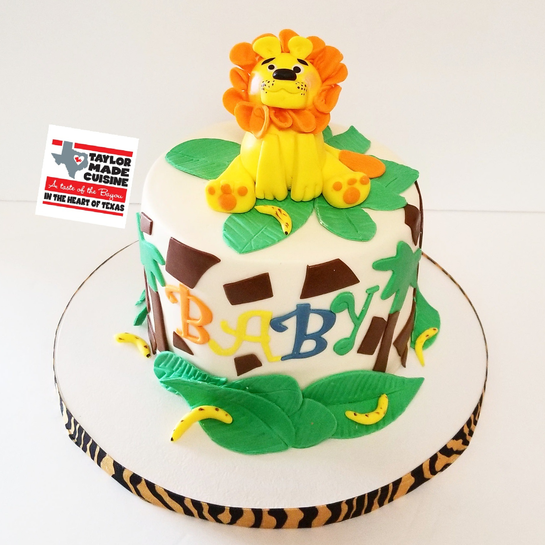 King of the Jungle Baby Shower Cake