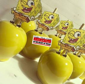 Sponge Bob Inspired Candy Apples