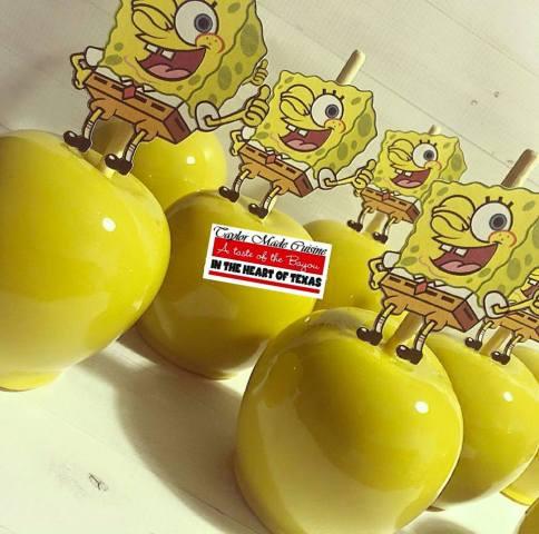 Sponge Bob Inspired Candy Apples