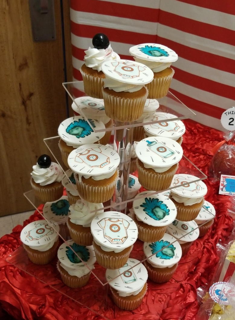 Taylor Made Cupcake Toppers with 3D Sonogram Image